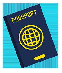 Pasaporte del bebé para que pueda regresar con sus padres a su hogar